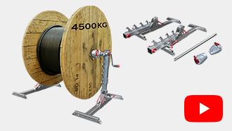Zvedák kabelových bubnů Runpolifter 4500